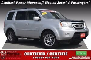 2011 Honda Pilot EX-L Leather! Power Moonroof! Heated Seats! 8 P