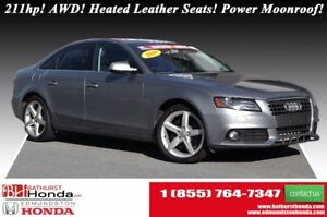 2010 Audi A4 2.0T Premium - AWD 211hp! AWD! Heated Leather Seat