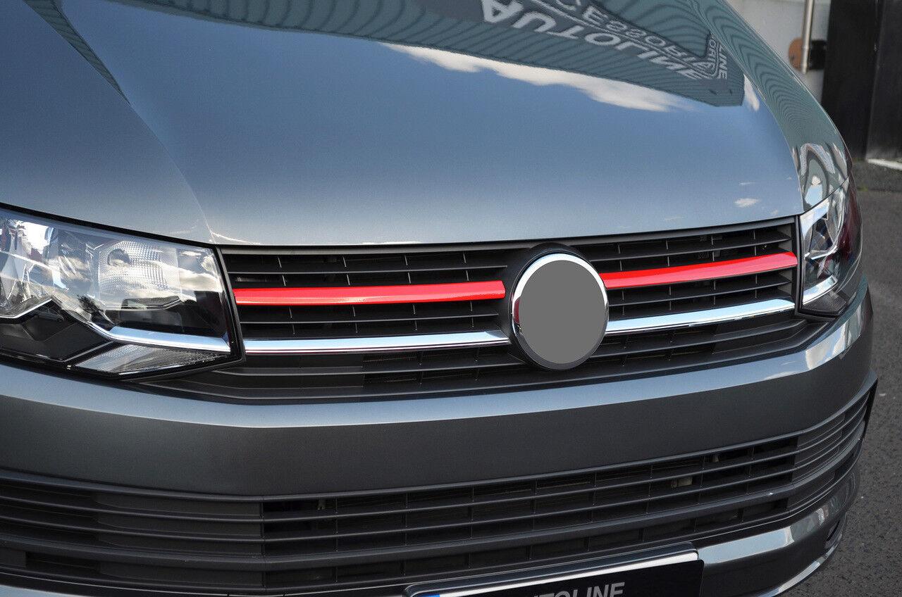 Carbon Fibre Bumper Grille Trims To Fit T6 Transporter 3 Piece 2016+