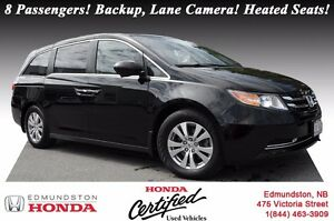 2014 Honda Odyssey EX 8 Passengers! Backup, Lane Camera! Heated