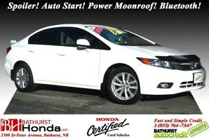 2012 Honda Civic Sedan EX Spoiler! Auto Start! Power Moonroof! B