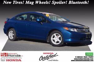 2012 Honda Civic Sedan LX New Tires! Mag Wheels! Spoiler! Blueto