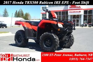 2017 Honda TRX500 IRS - EPS Foot Shift! Independent Rear Suspens