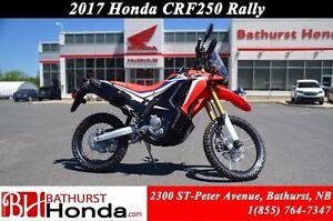 2017 Honda CRF250RY RALLY Canadian Trail-Ready!! High RPM Power!
