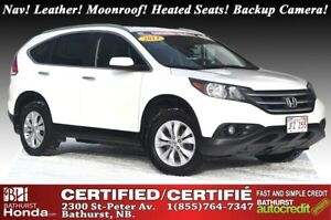 2014 Honda CR-V Touring Nav! Leather! Moonroof! Heated Seats! Ba