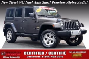 2014 Jeep Wrangler Unlimited SAHARA New Tires! V6! Nav! Auto Sta