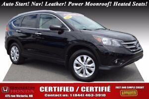 2013 Honda CR-V TOURING Auto Start! Nav! Leather! Power Moonroof