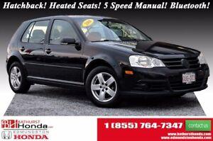 2008 Volkswagen City Golf Hatchback! Heated Seats! 5 Speed Manua