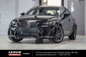 2018 Lexus IS 350 F SPORT II AWD; CUIR TOIT GPS ANGLES MORTS LSS
