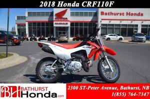 2018 Honda CRF110 Simplified Maintenance! Easy Start! Smooth fro