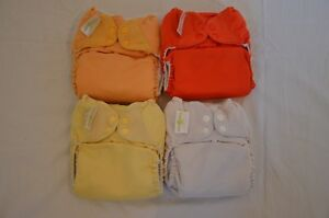 4 x BumGenius Original 4.0 One-size Pocket Nappies (Used) Brunswick Moreland Area Preview