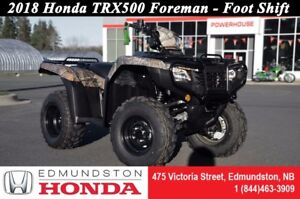 2018 Honda TRX500 Foreman Manual Foot Shift! Quick start! Powerf