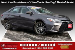 2015 Toyota Camry XSE Leather-trimmed UltraSuede Seating! Heated