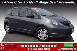2013 Honda Fit LX 1-Owner! No Accident! Hatchback! 60/40 Split-f
