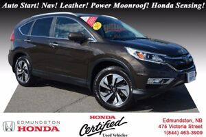 2015 Honda CR-V TOURING - AWD Auto Start! Nav! Leather! Power Mo