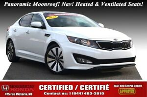 2013 Kia Optima SX Panoramic Moonroof! Nav! Leather! Heated & Ve
