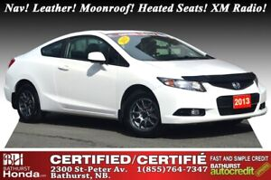 2013 Honda Civic Coupe EX-L - Nav Nav! Leather! Moonroof! Heated
