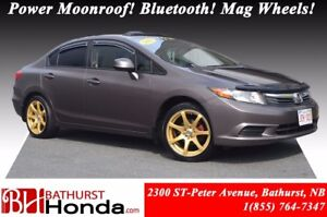 2012 Honda Civic Sedan EX Power Moonroof! Bluetooth! Mag Wheels!