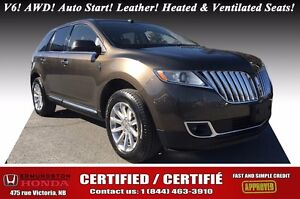 2011 Lincoln MKX V6! AWD! Auto Start! Leather! Heated and Ventil