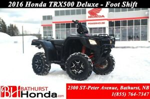 2016 Honda TRX500 Deluxe Foot Shift! Mag Wheels! Independent Rea