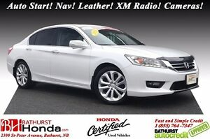 2015 Honda Accord Sedan TOURING Auto Start! Nav! Leather! XM Rad