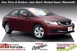 2013 Honda Civic Sedan LX Honda Certified! New Tires & Brakes! A