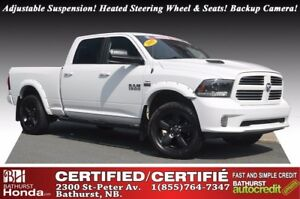 2015 Ram 1500 SPORT V8, 5.7L - 395 hp/410 lb-ft! Heated Steering