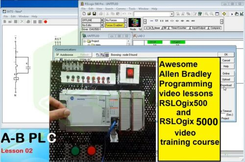Awesome Allen Bradley Programming video lessons RSLOgix500/5000 training course