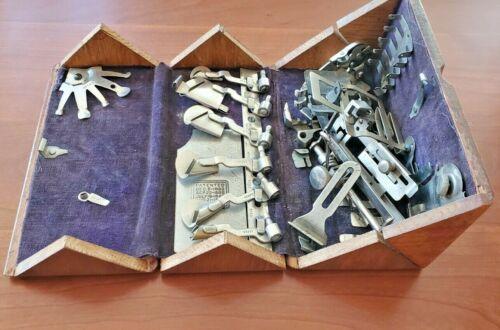 Antique Singer Sewing Machine 1889 Oak Puzzle Box — Purple Velvet