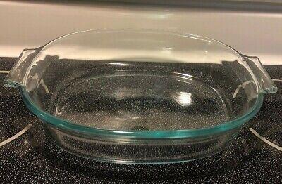 Vtg. Pyrex Clear Glass 2 QT Oval Deep Baking Dish # 702 - NICE! Deep Oval Baking Dish