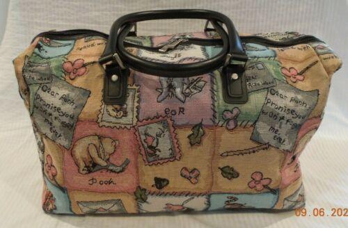 Disney World  Winnie The Pooh Tapestry Fabric Carpet Duffel Bag Tote Luggage NEW