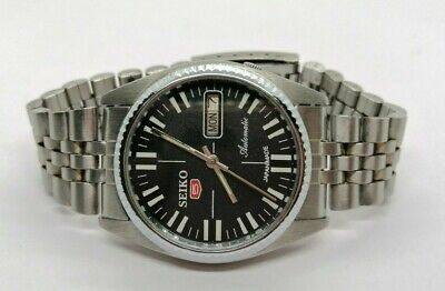 100% ORIGINAL SEIKO 5 AUTOMATIC DAY & DATE MADE IN JAPAN MEN'S WRISTWATCH.
