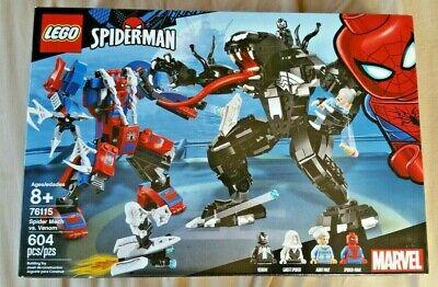 Lego Marvel Spiderman 76115 Spider Mech VS. Venom Building Toy New In Box