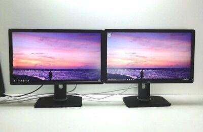 """2x Dell P2312HT TFT LCD Monitor 2x 23"""" 46"""" FULL HD 1920x1080 DVI VGA GRADE B"""