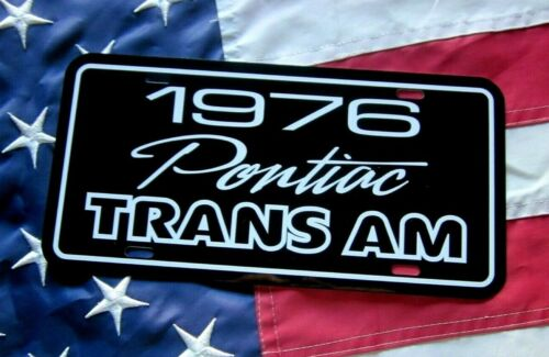 1976 Pontiac Trans Am  License plate tag 76 Firebird T/A