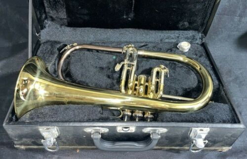 FH-2710 Flugelhorn with Carrying Case Wind Instrument Bright Brass Brand?