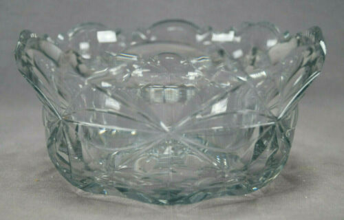18th Century Anglo Irish Clear Cut Crystal Diamond Pattern Bowl Circa 1770