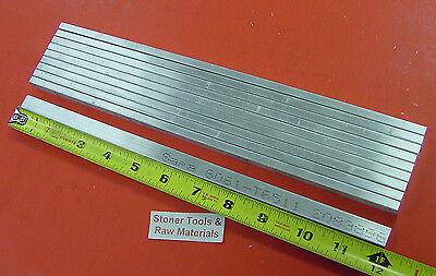 10 Pieces 14 X 12 Aluminum 6061 Flat Bar 12 Long T6511 .250x .5 Mill Stock