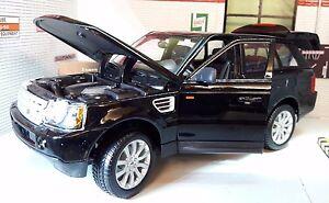 Land Range Rover Sport TDV6 LR3 Black Detailed Diecast Model 1:18 Maisto Burago