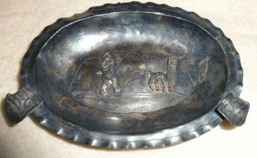 Vintage Peru 925 Sterling Silver LLama Tobacco Ashtray