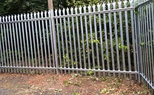 3m High Steel Palisade Galv Security Fencing with Installation/Fitting
