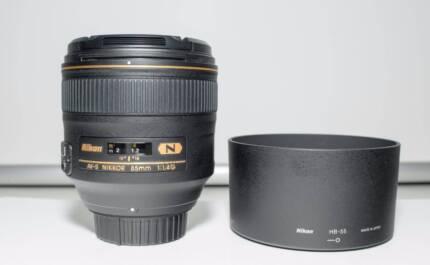 As New Nikon Nikkor AF-S 85mm f1.4 G Lens