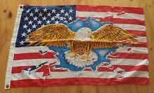 VINTAGE QUALITY RARE SMALL USA WITH EAGLE AMERICAN HOISTING FLAG Kambah Tuggeranong Preview