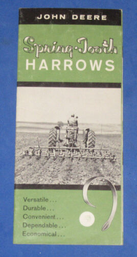 Vintage John Deere Spring Tooth Harrows Dealer Tractor Advertising Brochure