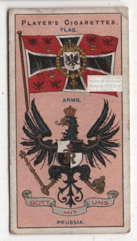Prussia Flag Banner Emblem Germany 110+ Y/O Ad Trade Card