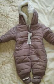 Snowsuit 0-6 months Brand New