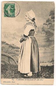 Costume d'Orcival - Carte postale ancienne