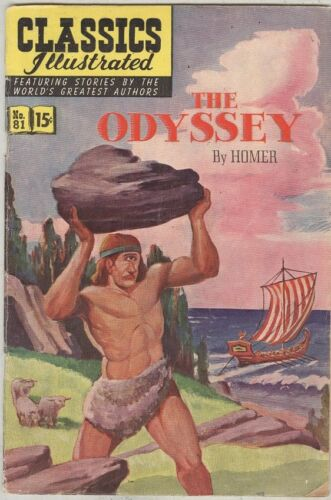 Classics Illustrated #81 The Odyssey HRN 82 March 1951 G/VG Original