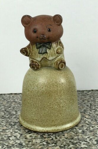 Vintage Japan Giftcraft Pottery Pig with Bow Tie Dinner Bell
