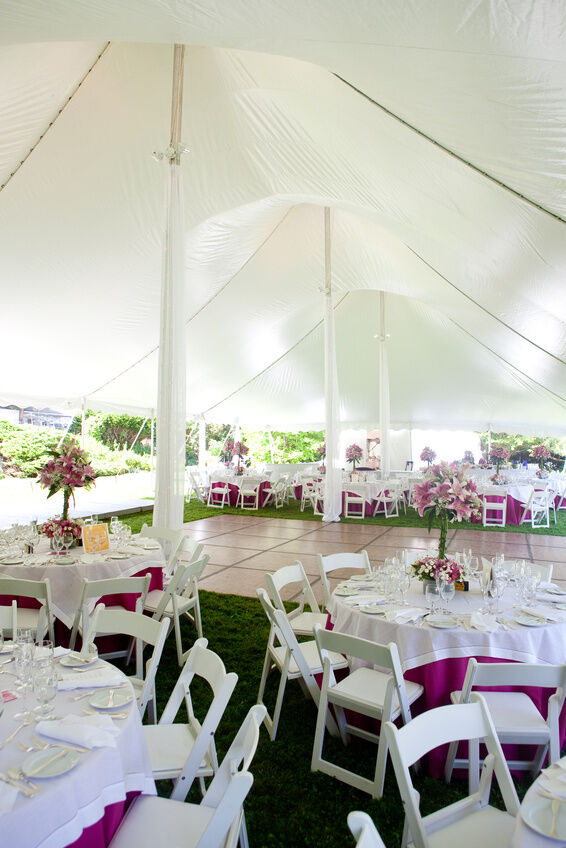 how to decorate a canopy tent for a wedding - Metallic Canopy Decorating